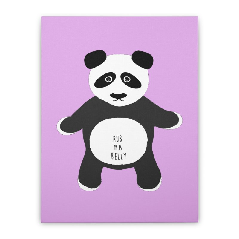 Lucky Panda Home Stretched Canvas by Flourish & Flow's Artist Shop