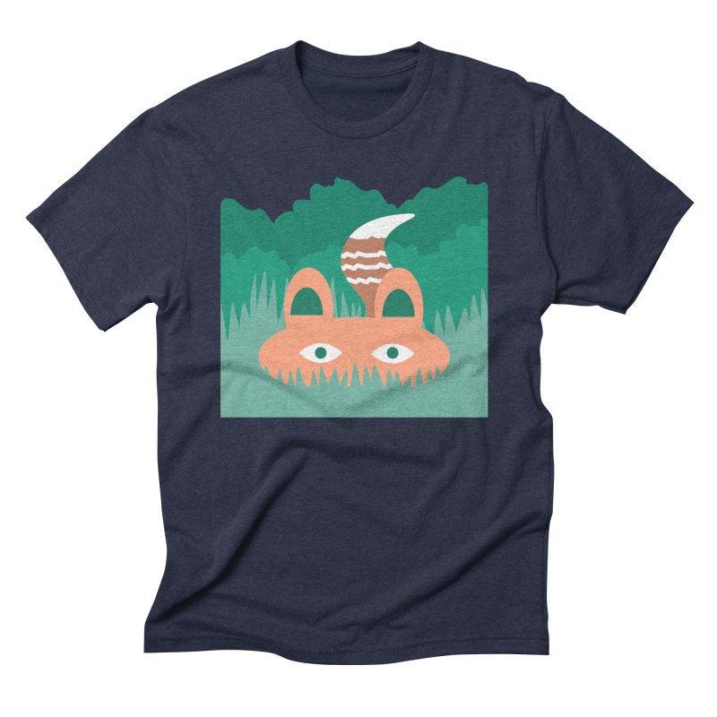 Hide and Seek Fox Men's Triblend T-shirt by Flourish & Flow's Artist Shop
