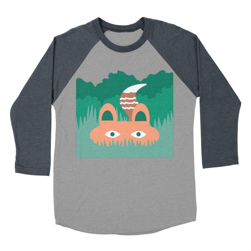 Hide and Seek Fox Men's Baseball Triblend T-Shirt by Flourish & Flow's Artist Shop