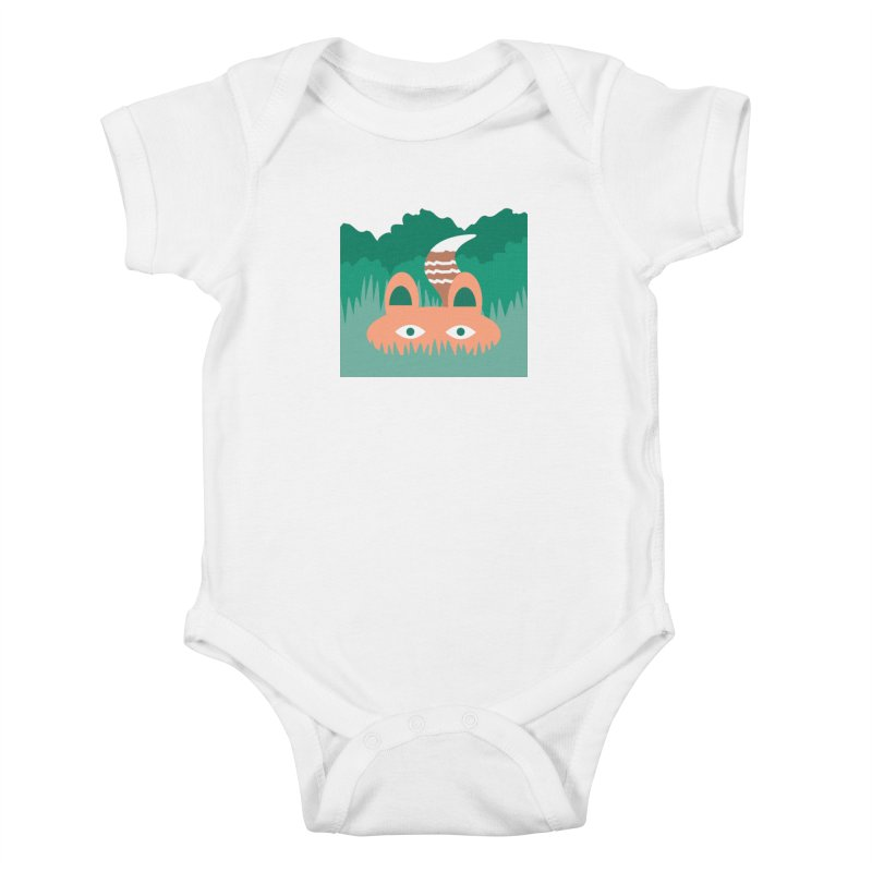Hide and Seek Fox Kids Baby Bodysuit by Flourish & Flow's Artist Shop