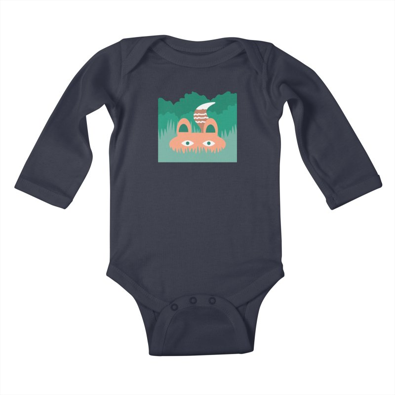 Hide and Seek Fox Kids Baby Longsleeve Bodysuit by Flourish & Flow's Artist Shop