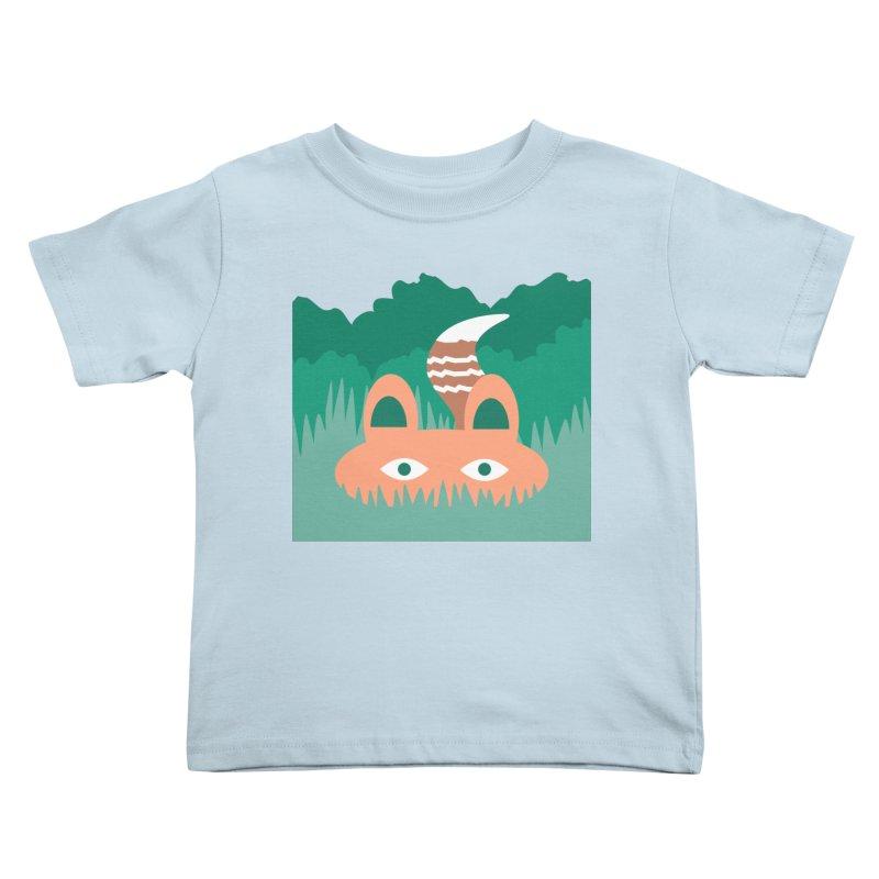Hide and Seek Fox Kids Toddler T-Shirt by Flourish & Flow's Artist Shop