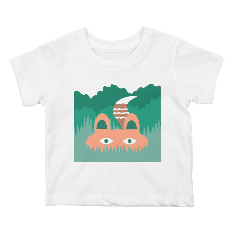 Hide and Seek Fox Kids Baby T-Shirt by Flourish & Flow's Artist Shop