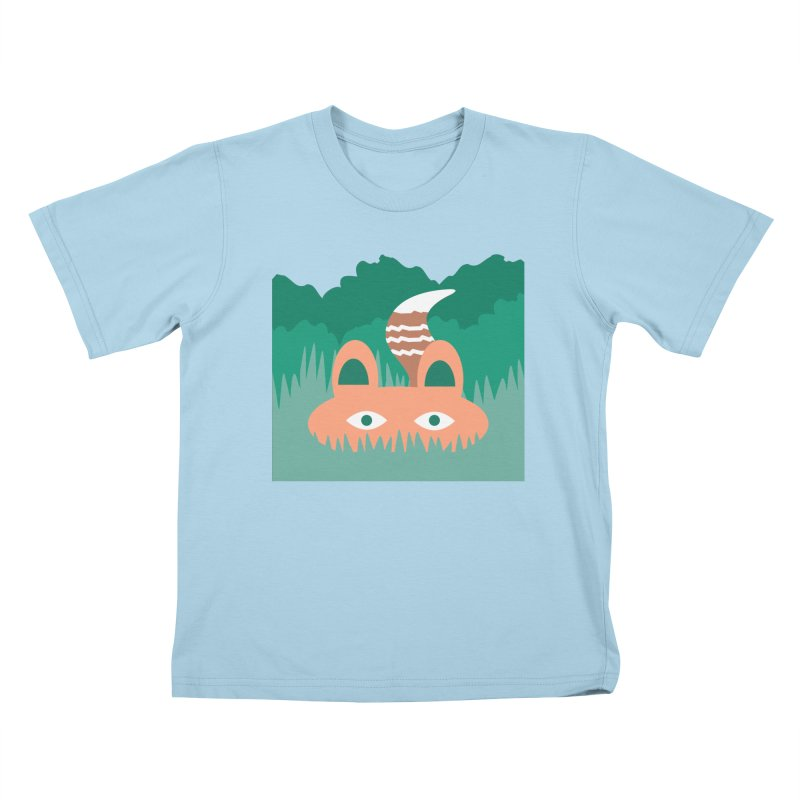 Hide and Seek Fox Kids T-shirt by Flourish & Flow's Artist Shop