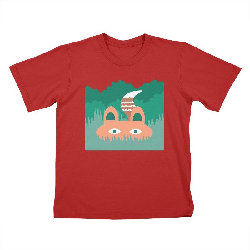 Hide and Seek Fox Kids T-shirt by Flourish & Flow's Artist Shop