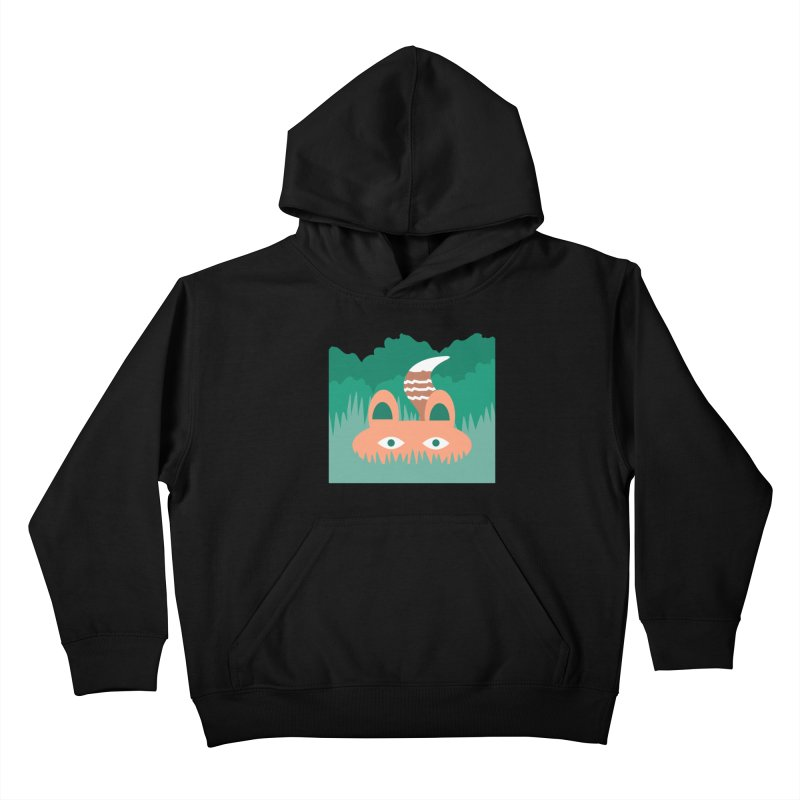 Hide and Seek Fox Kids Pullover Hoody by Flourish & Flow's Artist Shop