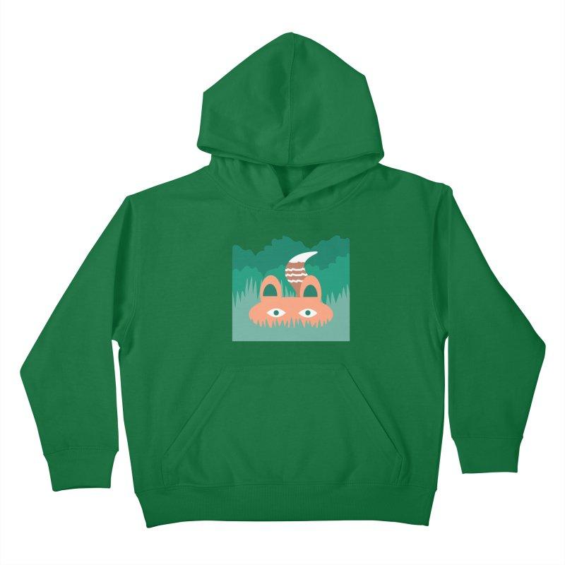 Hide and Seek Fox Kids Pullover Hoody by Flourish & Flow's Artist Shop