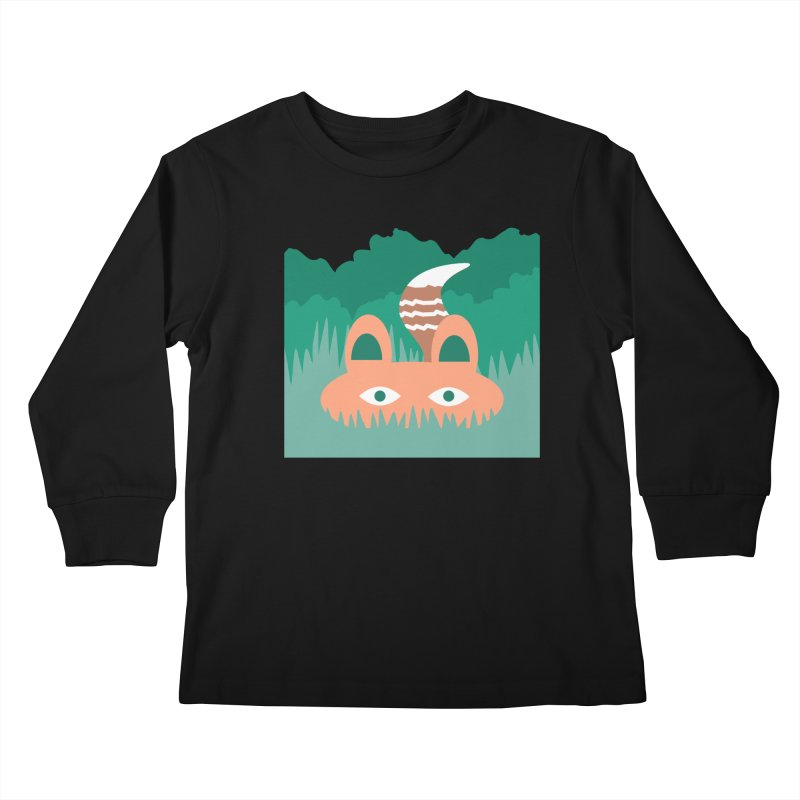 Hide and Seek Fox Kids Longsleeve T-Shirt by Flourish & Flow's Artist Shop