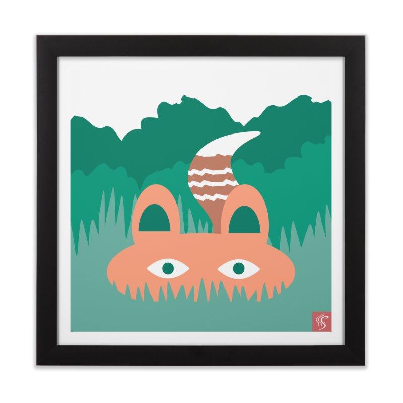 Hide and Seek Fox Home Framed Fine Art Print by Flourish & Flow's Artist Shop
