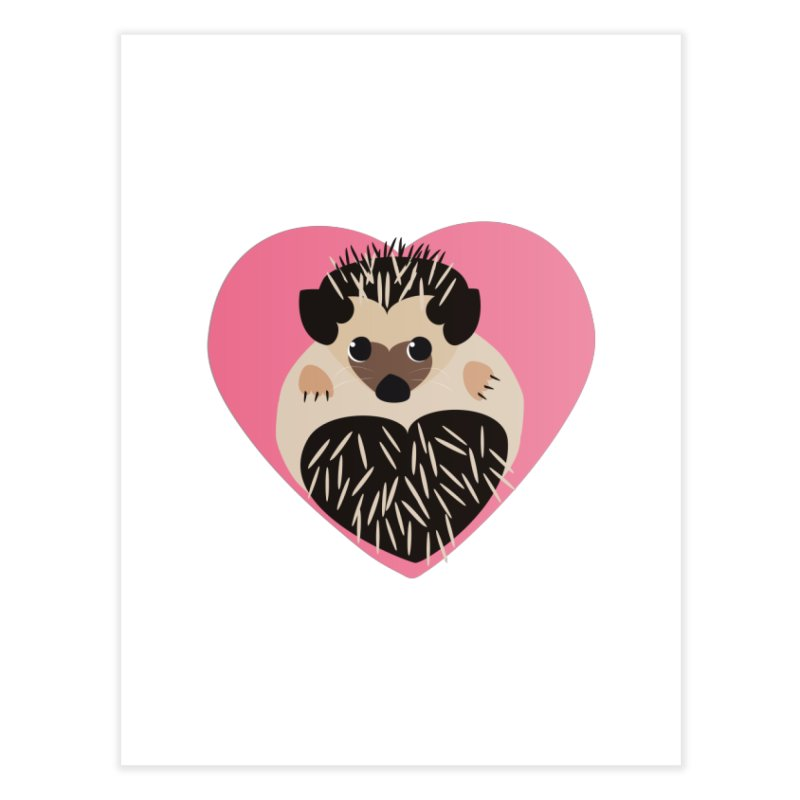 Hedgehog Loves You Home Fine Art Print by Flourish & Flow's Artist Shop