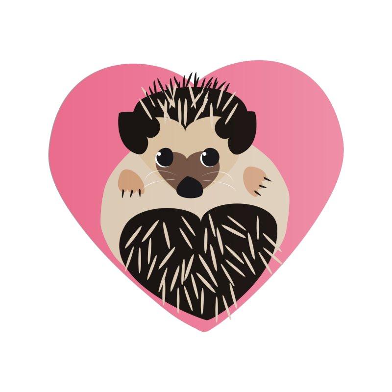 Hedgehog Loves You Home Framed Fine Art Print by Flourish & Flow's Artist Shop