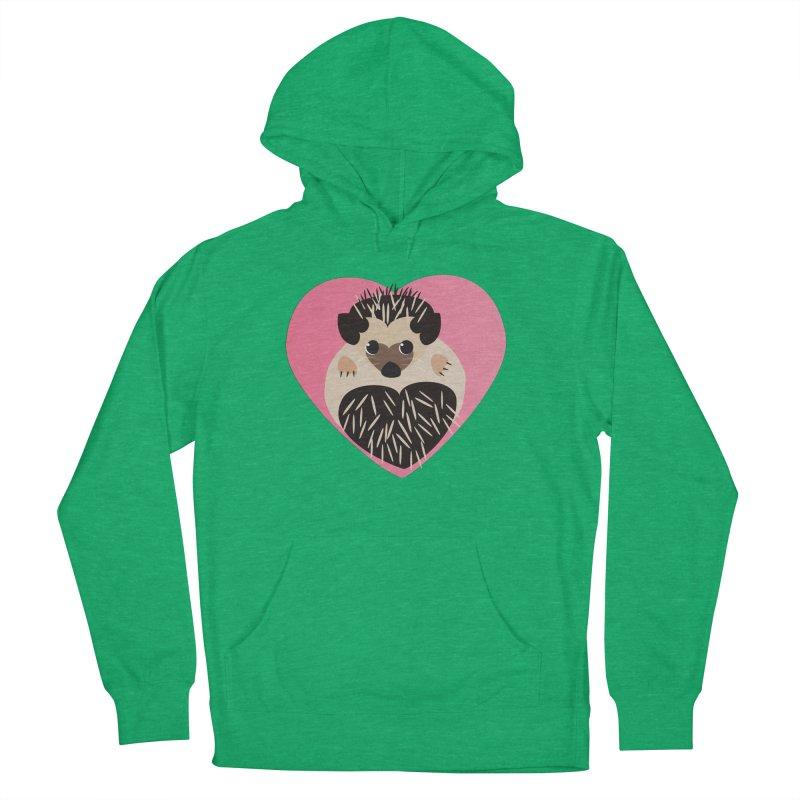 Hedgehog Loves You Men's Pullover Hoody by Flourish & Flow's Artist Shop