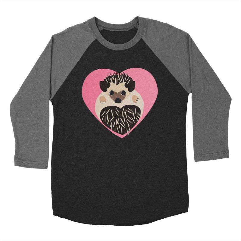 Hedgehog Loves You Women's Baseball Triblend T-Shirt by Flourish & Flow's Artist Shop