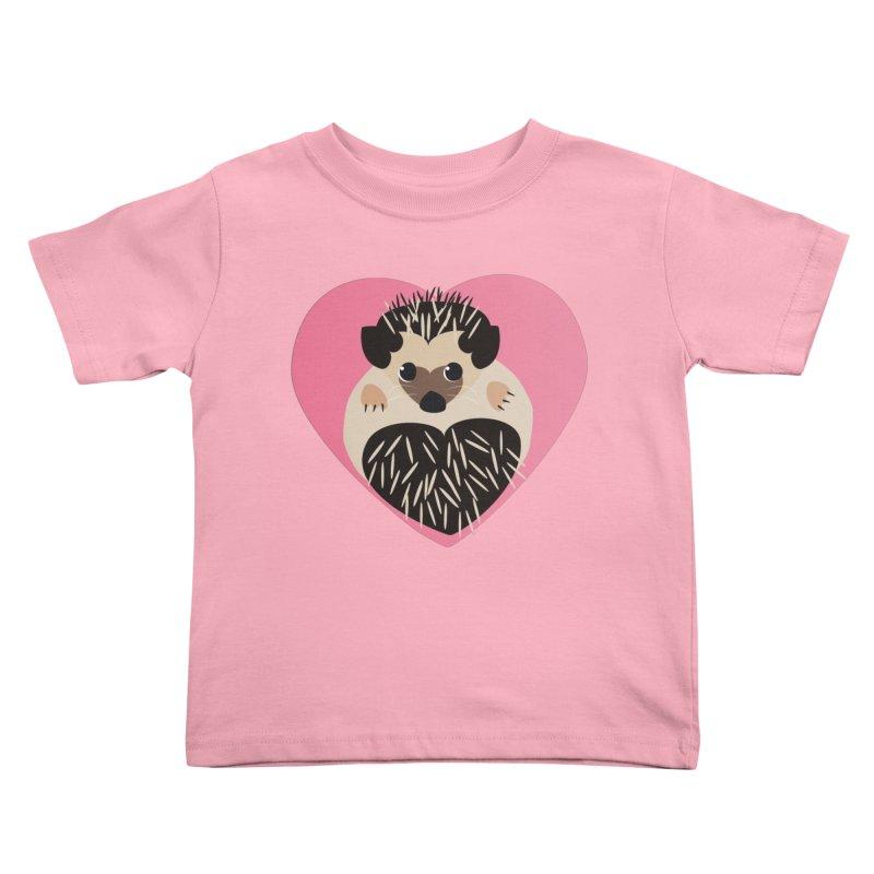 Hedgehog Loves You Kids Toddler T-Shirt by Flourish & Flow's Artist Shop