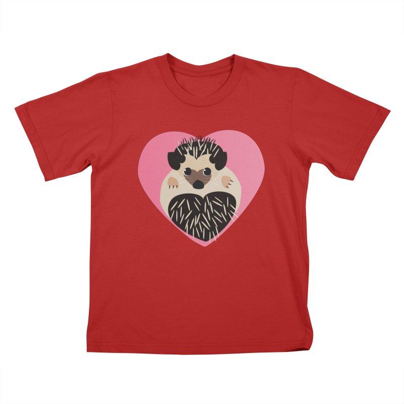Hedgehog Loves You Kids T-shirt by Flourish & Flow's Artist Shop