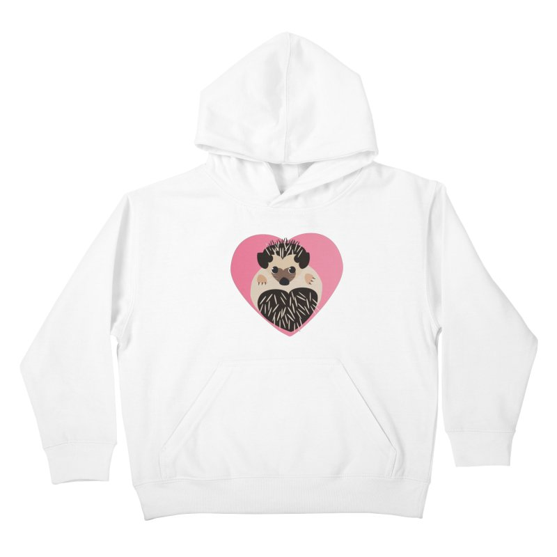 Hedgehog Loves You Kids Pullover Hoody by Flourish & Flow's Artist Shop