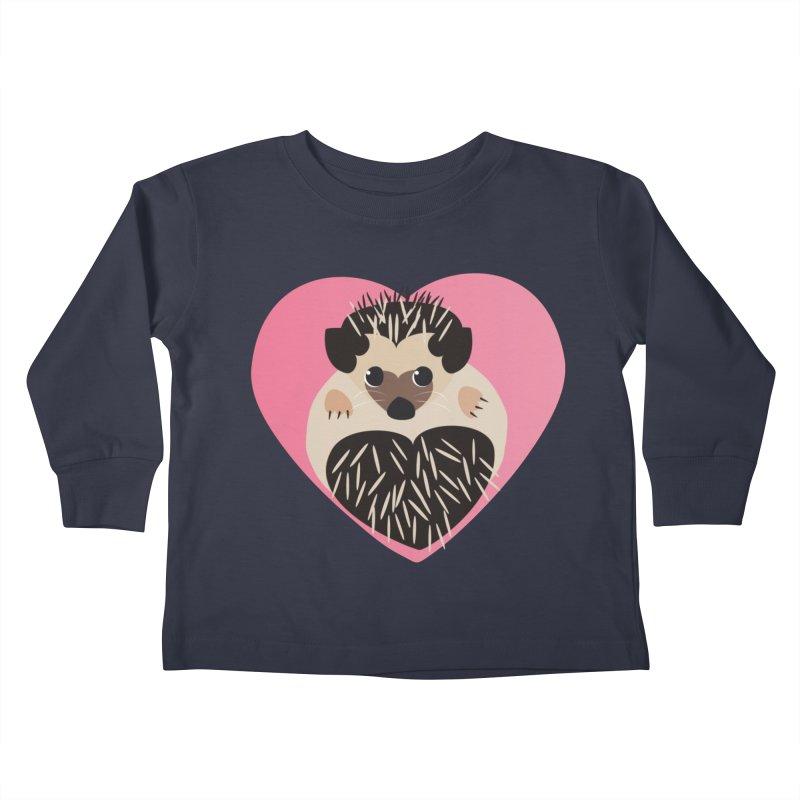 Hedgehog Loves You Kids Toddler Longsleeve T-Shirt by Flourish & Flow's Artist Shop
