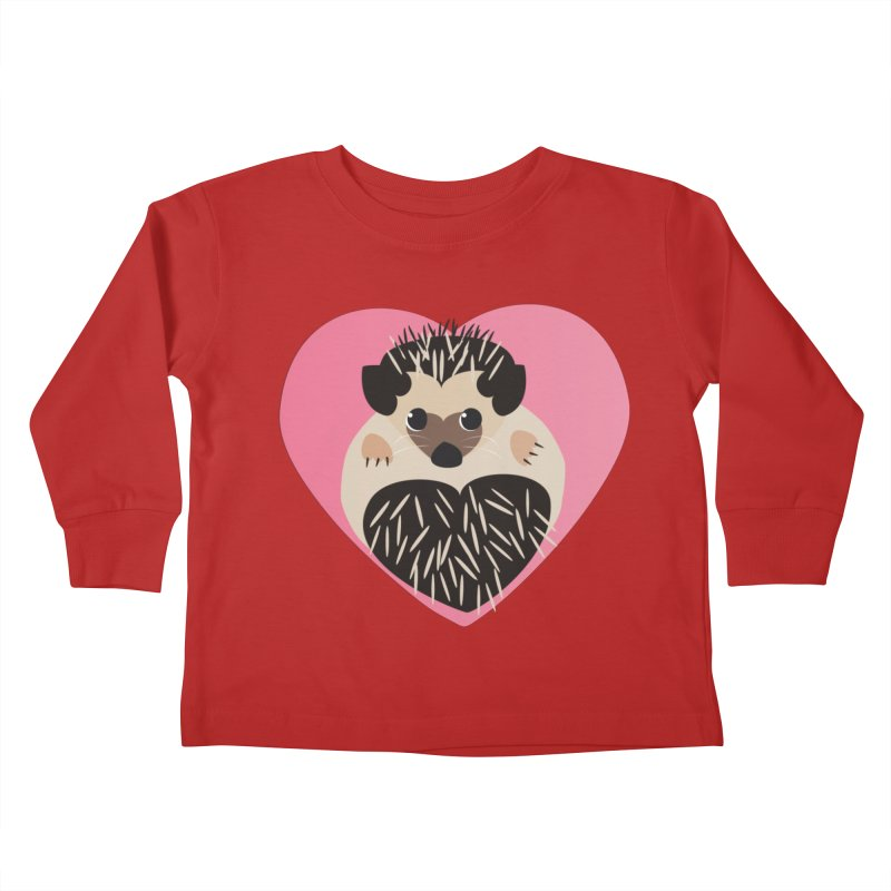 Hedgehog Loves You Kids Toddler Longsleeve T-Shirt by Flourish & Flow's Artist Shop