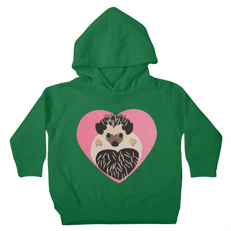 Hedgehog Loves You Kids Toddler Pullover Hoody by Flourish & Flow's Artist Shop