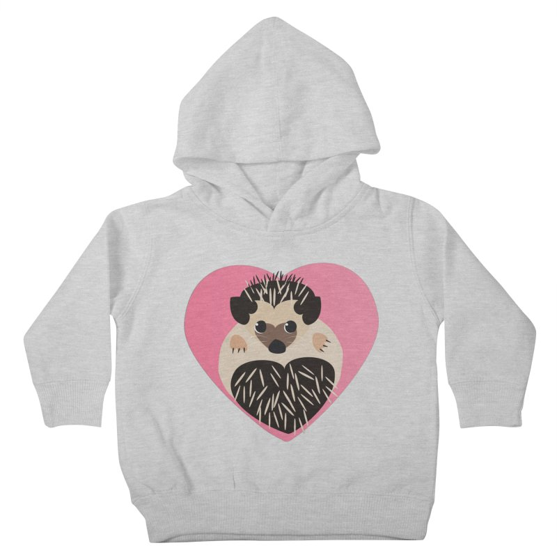 Hedgehog Loves You Kids Toddler Pullover Hoody by Flourish & Flow's Artist Shop