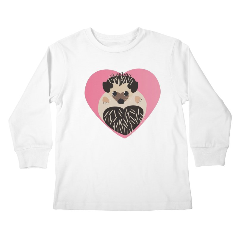 Hedgehog Loves You Kids Longsleeve T-Shirt by Flourish & Flow's Artist Shop