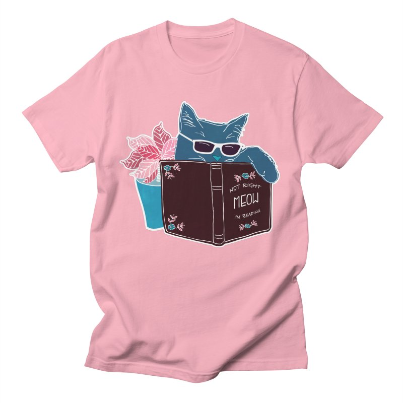 "Cool Cat ""Not Right Meow I'm Reading"" Cat with Sunglasses Book Quote Women's Unisex T-Shirt by Flourish & Flow's Artist Shop"