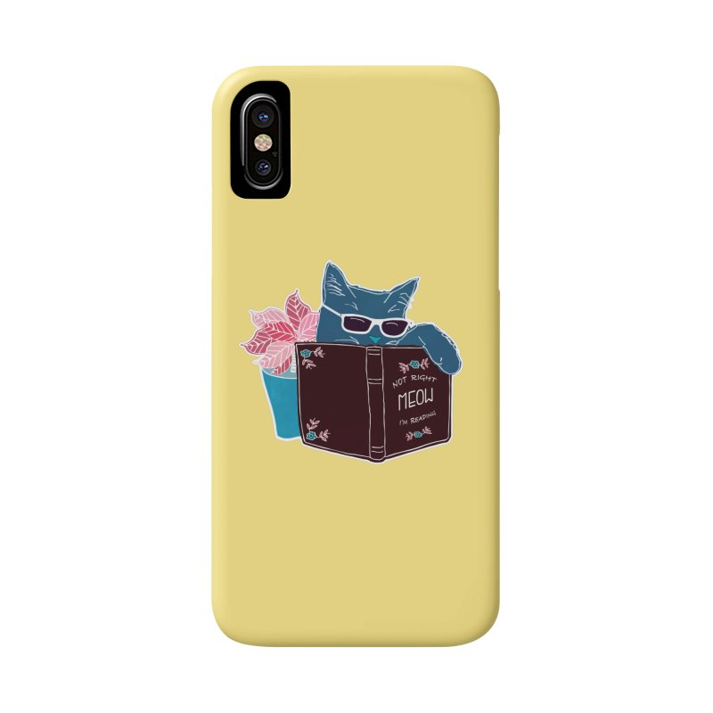 """Cool Cat """"Not Right Meow I'm Reading"""" Cat with Sunglasses Book Quote Accessories Phone Case by Flourish & Flow's Artist Shop"""