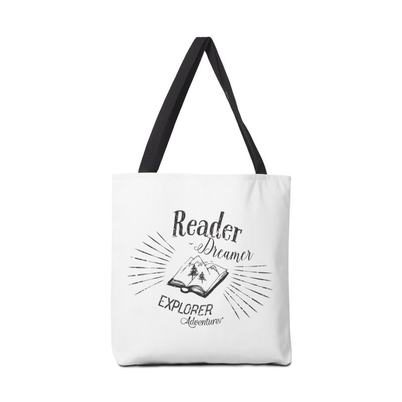 Reader Dreamer Explorer Adventurer Vintage Style Book lover Quote Accessories Bag by Flourish & Flow's Artist Shop
