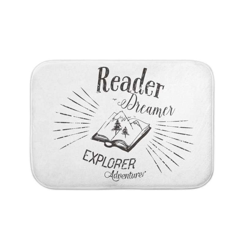 Reader Dreamer Explorer Adventurer Vintage Style Book lover Quote Home Bath Mat by Flourish & Flow's Artist Shop