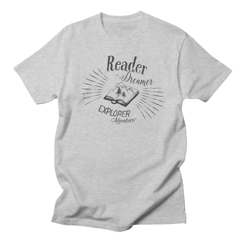 Reader Dreamer Explorer Adventurer Vintage Style Book lover Quote Men's T-Shirt by Flourish & Flow's Artist Shop