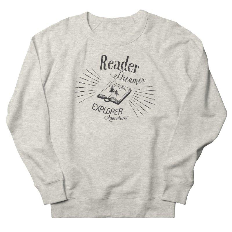 Reader Dreamer Explorer Adventurer Vintage Style Book lover Quote Men's Sweatshirt by Flourish & Flow's Artist Shop