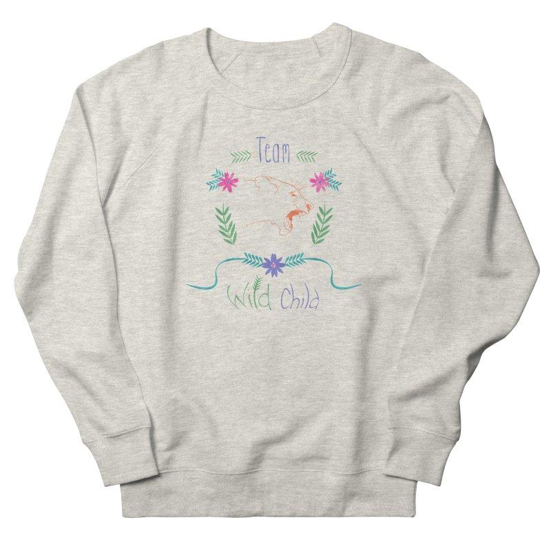Wild Child Watercolor Lioness floral crest Women's Sweatshirt by Flourish & Flow's Artist Shop