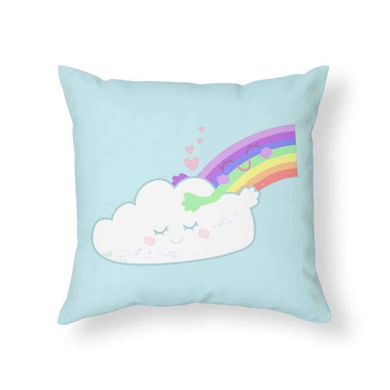 Rainbow Cloud Hug Home Throw Pillow by Flourish & Flow's Artist Shop