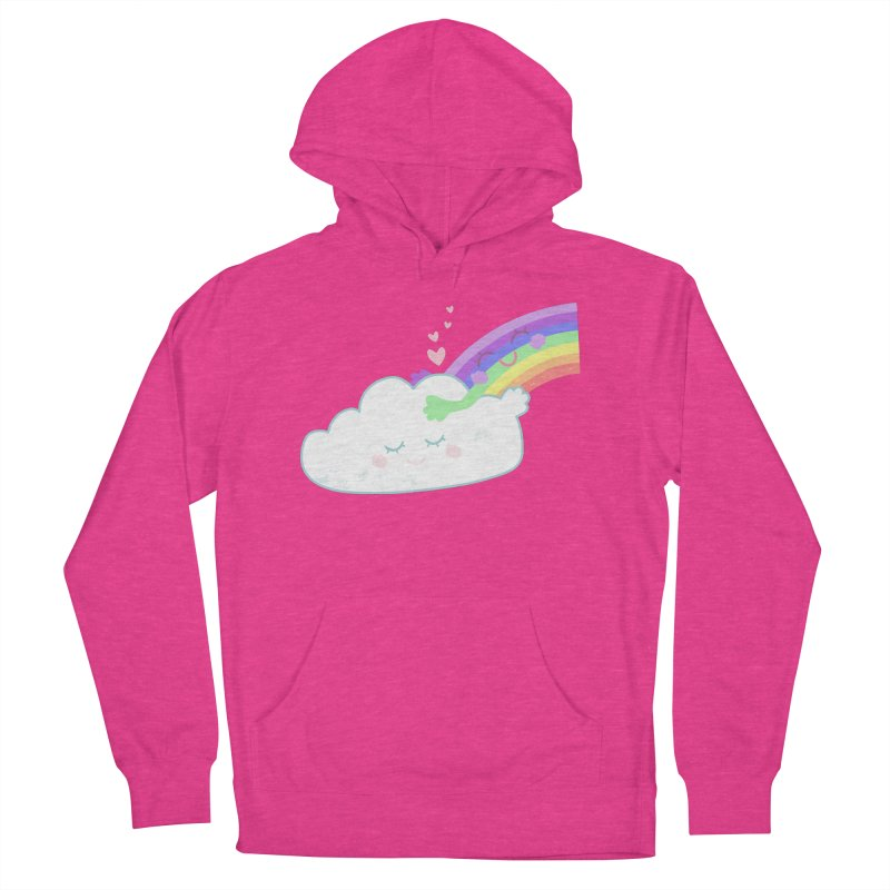 Rainbow Cloud Hug Women's French Terry Pullover Hoody by Flourish & Flow's Artist Shop