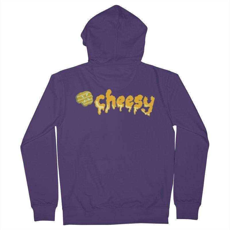 Cheesy T-shirt Women's Zip-Up Hoody by Flourish & Flow's Artist Shop