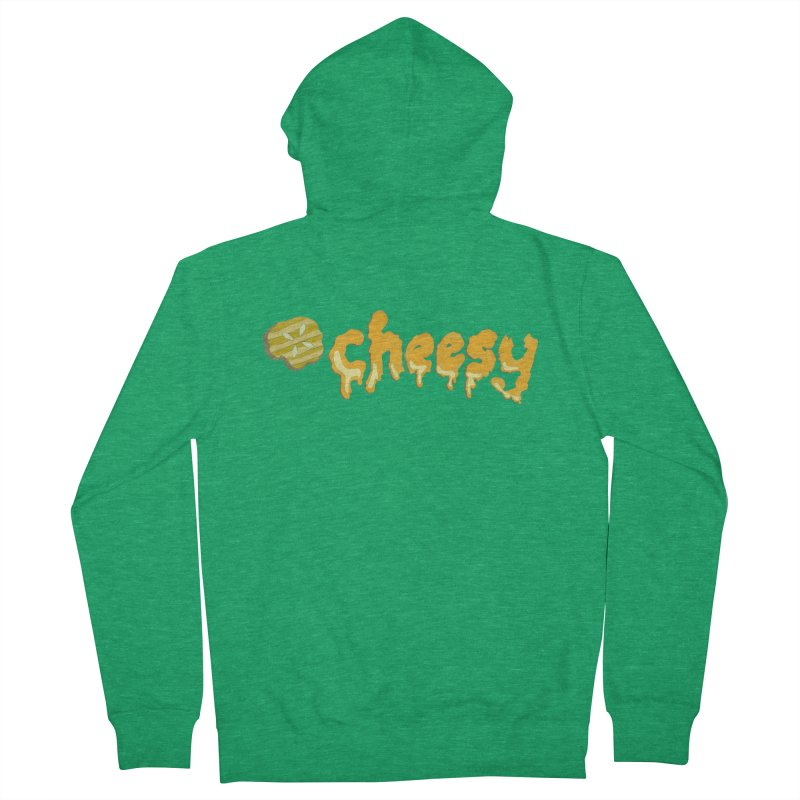 Cheesy T-shirt Men's Zip-Up Hoody by Flourish & Flow's Artist Shop