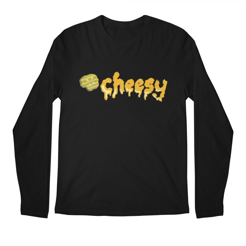 Cheesy T-shirt Men's Longsleeve T-Shirt by Flourish & Flow's Artist Shop