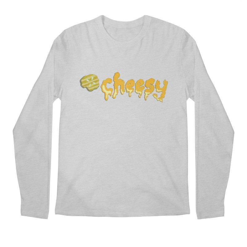 Cheesy T-shirt Men's Longsleeve T-Shirt by Flourish & Flow's Artist Shop