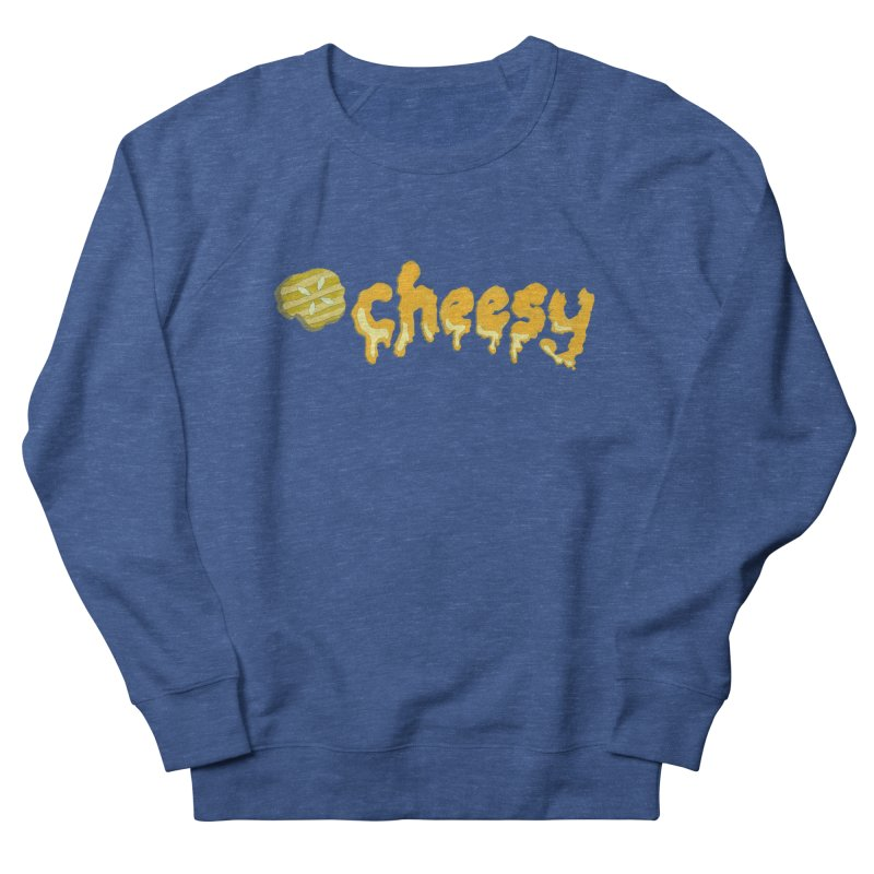 Cheesy T-shirt Men's Sweatshirt by Flourish & Flow's Artist Shop