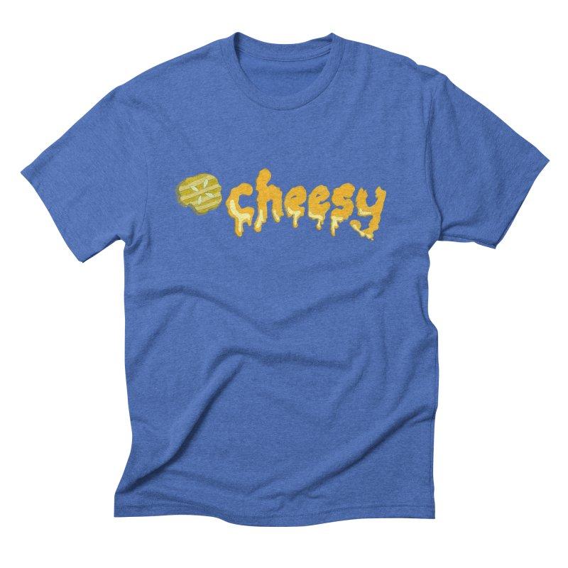 Cheesy T-shirt Men's Triblend T-shirt by Flourish & Flow's Artist Shop
