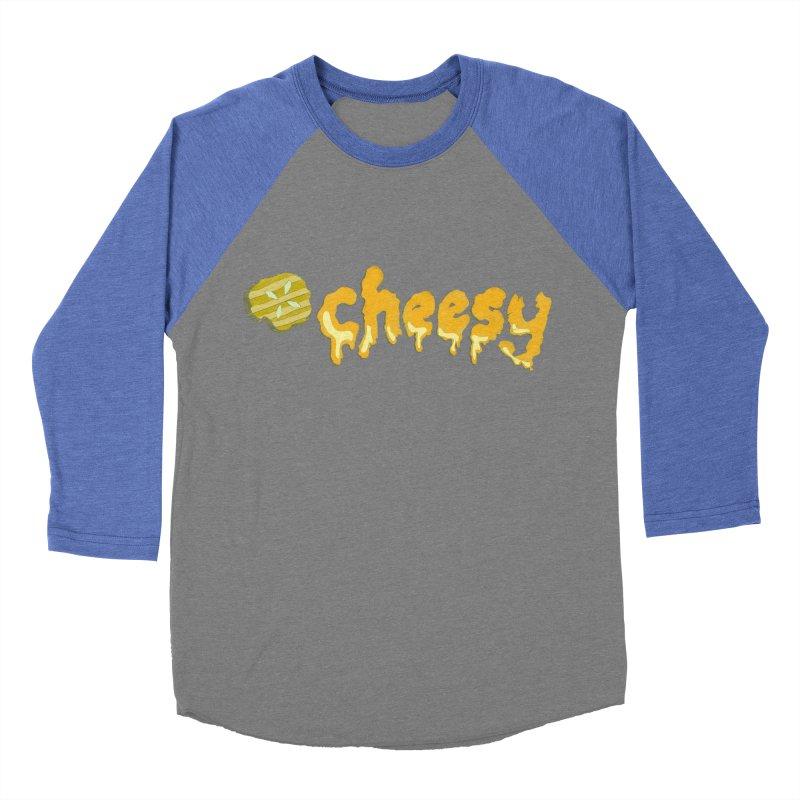 Cheesy T-shirt Men's Baseball Triblend T-Shirt by Flourish & Flow's Artist Shop
