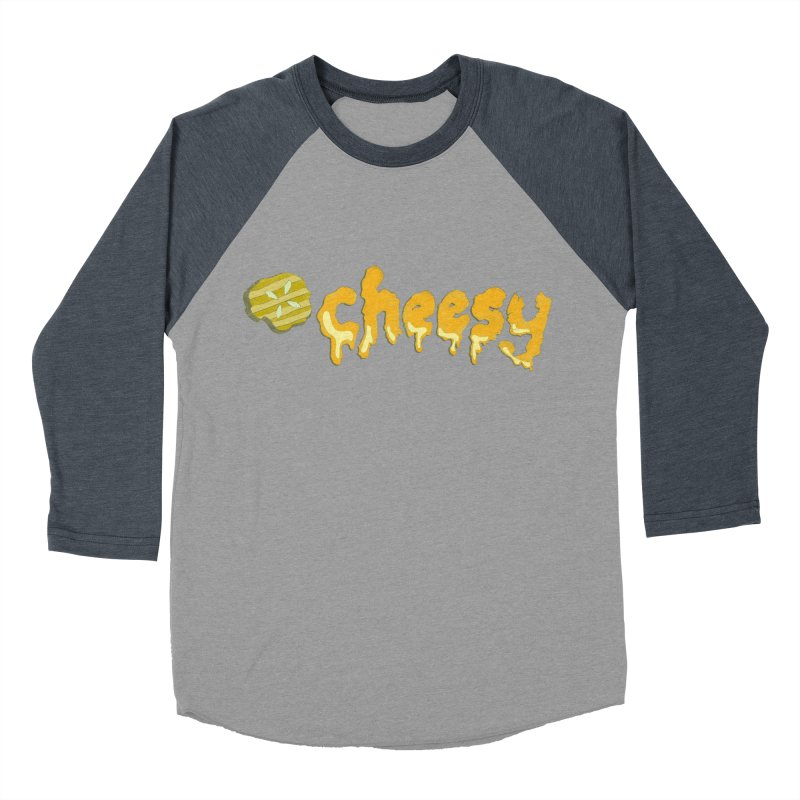 Cheesy T-shirt Men's Baseball Triblend T-Shirt by Flourish & Flow's Artist Shop