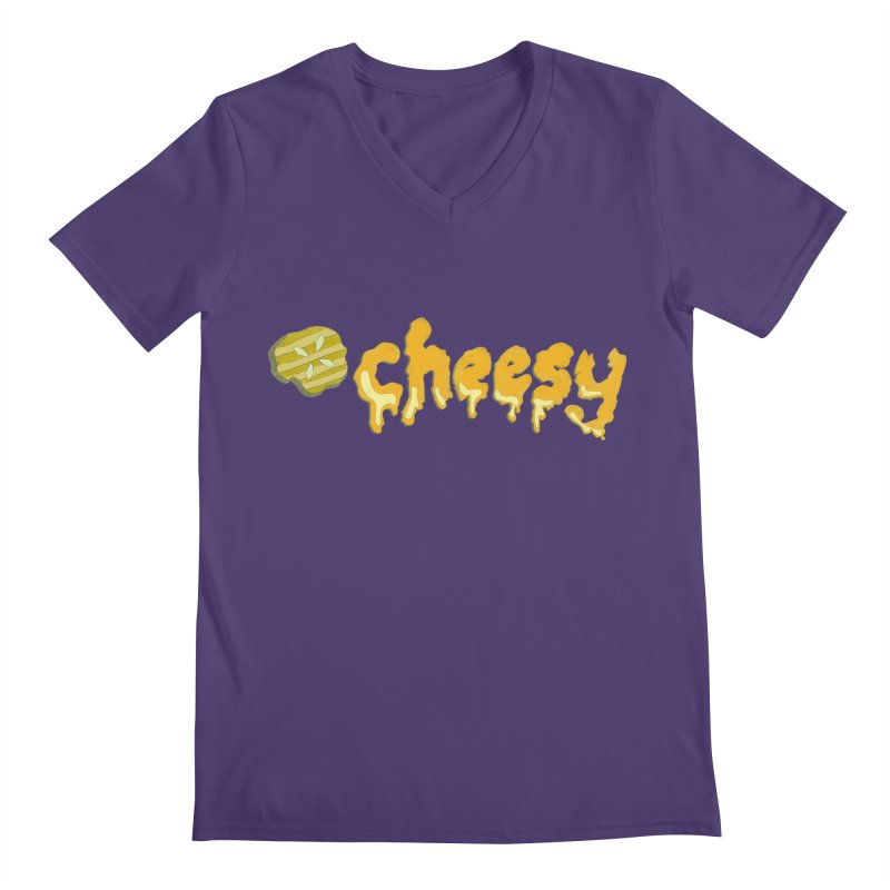 Cheesy T-shirt Men's V-Neck by Flourish & Flow's Artist Shop