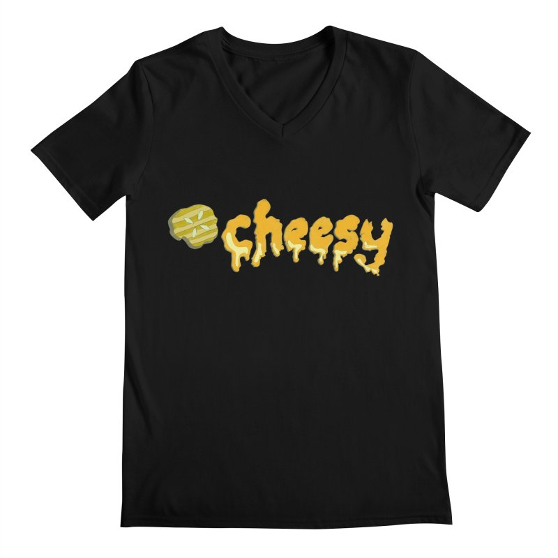 Cheesy T-shirt Men's V-Neck by Flourish & Flow's Artist Shop