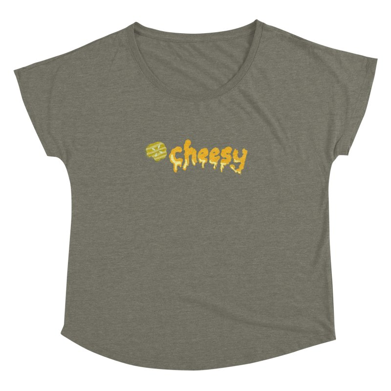 Cheesy T-shirt Women's Dolman by Flourish & Flow's Artist Shop