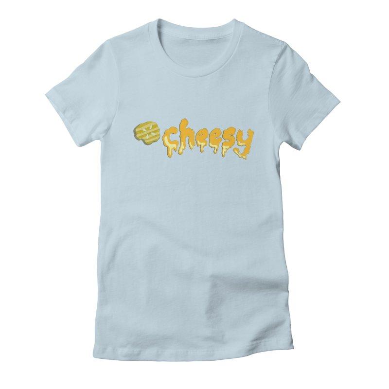 Cheesy T-shirt Women's Fitted T-Shirt by Flourish & Flow's Artist Shop