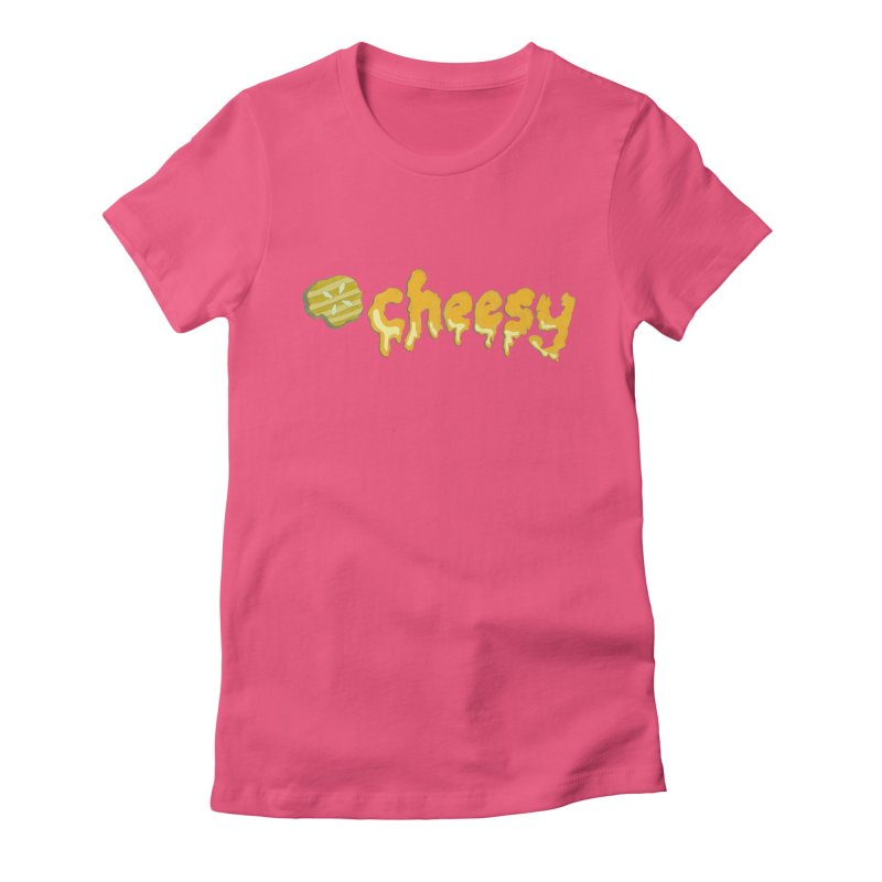 Cheesy T-shirt Women's Fitted T-Shirt by Flourish & Flow's Artist Shop