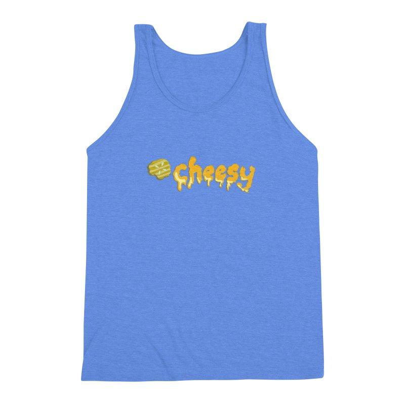 Cheesy T-shirt Men's Triblend Tank by Flourish & Flow's Artist Shop