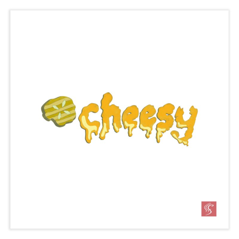 Cheesy T-shirt Home Fine Art Print by Flourish & Flow's Artist Shop