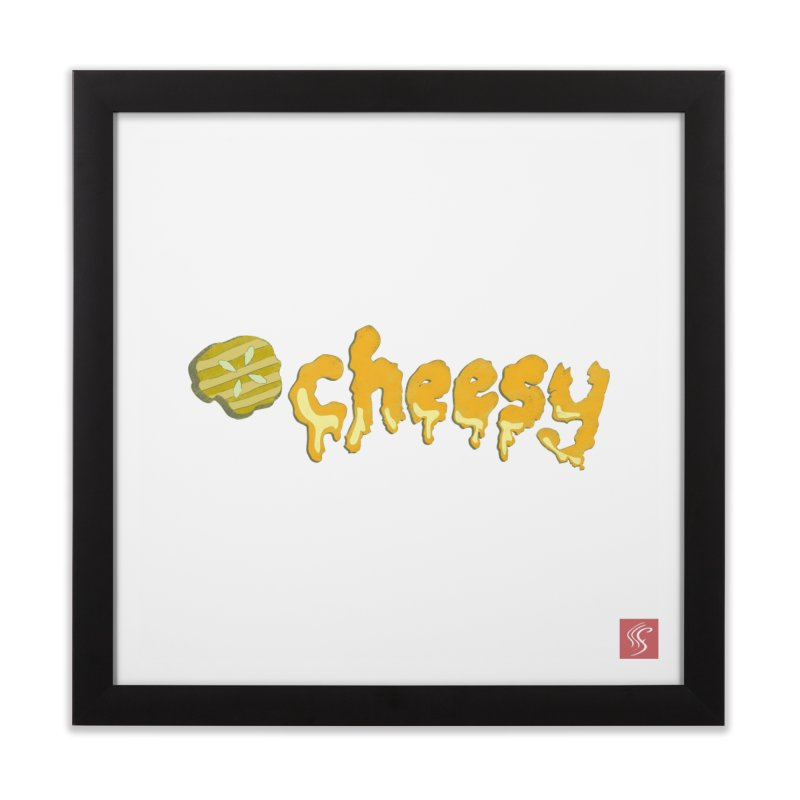Cheesy T-shirt Home Framed Fine Art Print by Flourish & Flow's Artist Shop